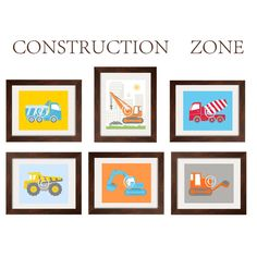 Construction Decor Nursery Wall Art Toddler Boy by YassisPlace, $14.00