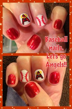 My Angels baseball nails :-)