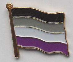 Asexual Pride Flag Enamel Pin Badge