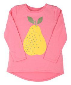 Look at this #zulilyfind! Geranium Pink Magic Pear Penelope Tee - Infant, Toddler & Girls #zulilyfinds