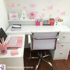 Kids study room Kids study room, Related posts: Fun Children's Study Room Design Ideas For Your Kids Types Of Study Room To Consider When you Need Your Special Work Place Ideas For Kids Room Desk Diy Vanities Ideas For Kids Room Desk Diy Vanities – Study Room Decor, Cute Room Decor, Bedroom Decor, Bedroom Ideas, Girl Bedroom Designs, Girls Bedroom, Bedrooms, Home Office Design, Home Office Decor