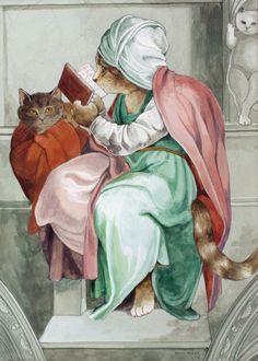 """Persian Sibyl (Sistine Chapel - Michel-Ange)"" par Susan Herbert"