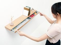bookshelf with hidden drawer