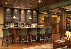 Pub Inspired Basement_Bar