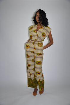 African Print Jumpsuit The Frances Jumpsuit by CHENBURKETTNY