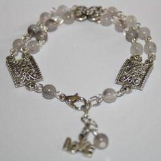 Dubbele armband in grijs en zilver