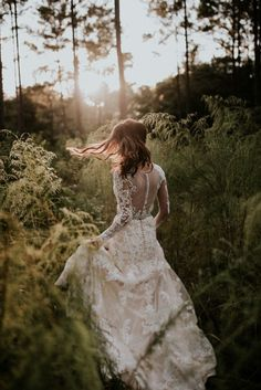 Button + illusion back gown | Image by April and Paul