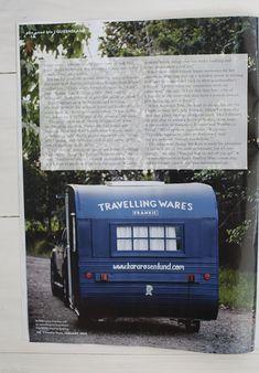 """Kara Rosenlund ~Travelling wares in her vintage caravan """"Frankie"""""""