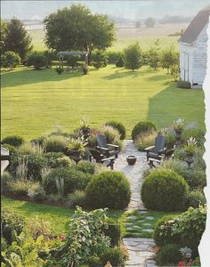 beautiful, tranquil back yard seating area.