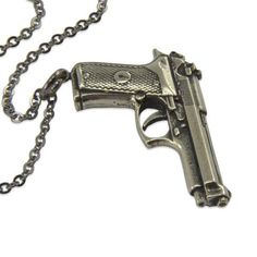 Gun Necklace  Beretta Automatic Pistol Hand Gun Pendant by mrd74 - Rgrips.com