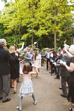 Oh my GOSH! A paper airplane exit! What could be cuter? #wedding #details