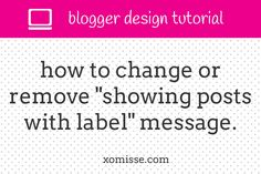 When a reader clicks on a label on your blog, they are greated with a message telling them that theyContinue Reading