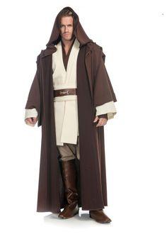 Obi Wan Kenobi Men's Costume from Star Wars. Obi Wan Kenobi Men's Costume from Star Wars