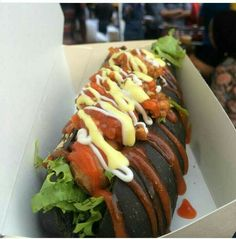 black hotdog