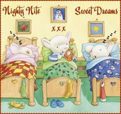 Cute illustrations - Getting ready for Christmas Good Night Sweet Dreams, Good Night Moon, Good Morning Good Night, Night Night, Night Time, Cute Animals Images, Jigsaw Puzzles For Kids, Good Night Greetings, Sick Kids