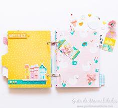 """Mini álbum """"Sueña"""" con TAB Punch Board - Guía de MANUALIDADES Scrapbook Albums, Scrapbooking, Punch Board, Diy, Notebook, Minis, Happy, Projects, Cards"""