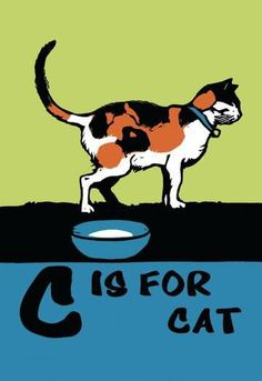 C is for Cat 24x36 Giclee