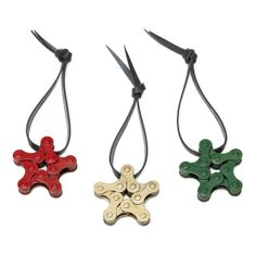 HOLIDAY BIKE CHAIN STAR ORNAMENTS | recycled ornament, bike | UncommonGoods