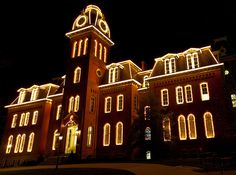 The lighting of Woodburn Hall on West Virginia University's downtown campus in Morgantown, WV. One of my favorite holiday traditions.