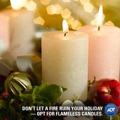 Keep #FirePrevention in mind this #holiday season. Be smart and remember never to leave a candle unattended. #StaySafe #FireSafety #ADT #HolidaySafety
