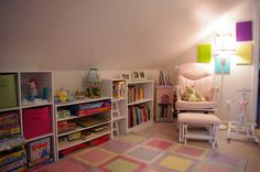 storage for room with slanted ceilings