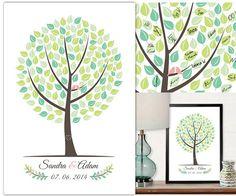 PDF Wedding Tree Guest Book Fingerprint PDF by StudioGoldArte