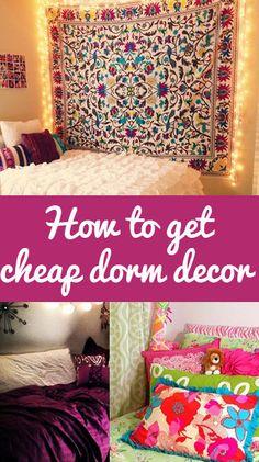 How to get cheap dorm decor !!!