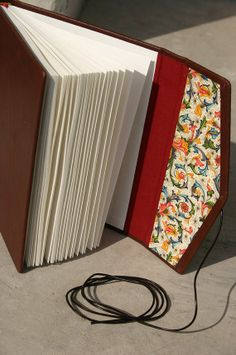 Leather bound juornal florance paper by GuBoArtBook on Etsy,