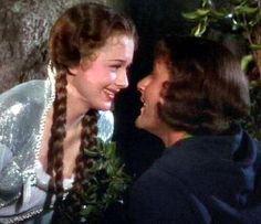 robin hood pictures: Maid Marian and Robin Hood costumes. (Adventures of Robin Hood) 1938