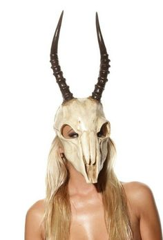 Small Springbok Skull Urethane mask with realistic horns