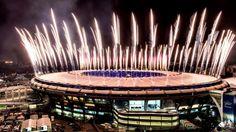 Im Maracana-Stadion werden die Olympischen Spiele glanzvoll eröffnet