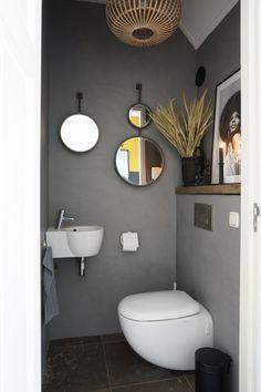 Bathroom Under Stairs, Oak Bathroom, Bathroom Toilets, Tree Bedroom, Small Toilet Room, Downstairs Toilet, Small Bathroom Storage, Upstairs Bathrooms, Home Room Design