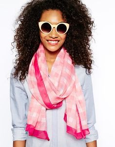 River Island Gingham Check Scarf
