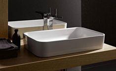 Waschbecken #Waschbecken REA ANITA Die #Keramik ist schneeweiß.  Die Befestigung des Waschbecken auf der #Platte.   #Bad #Badezimmer #Waschbecke #Badeinrichtung