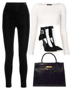 Black & White by carolineas on Polyvore featuring polyvore, fashion, style, Baja East, Balmain, Puma, Hermès and clothing