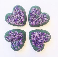 Your place to buy and sell all things handmade Mini Bath Bombs, Black Bath, Black Heart, Amethyst, Crystal, Unique Jewelry, Handmade Gifts, Party, Desserts