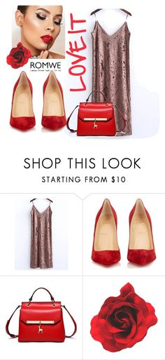 """Red ❤"" by elzaaa ❤ liked on Polyvore featuring Christian Louboutin"