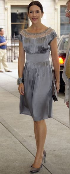 Princess Mary getting it right, again, in a stunning silver dress