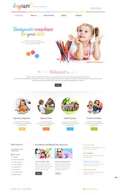 Template 49284 - Day Care  Responsive WordPress  Theme