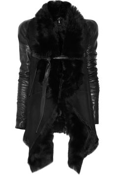 Aminaka Wilmont - Toscana Shearling and Leather Jacket in Black