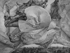 Wschód na Białołęce, rysunek długopisem, A3