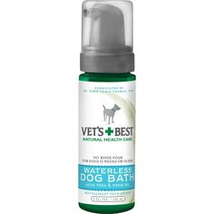 Now available on our store: Vet's Best Waterl... , Check it out here : http://www.allforourpets.com/products/vets-best-waterless-dog-bath-5oz-green-1-88-x-1-88-x-6-88