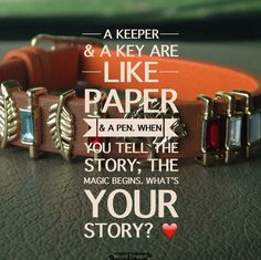 A keeper and a key are like paper & a pen. When you tell the story, the magic begins. What's your story? Create Your Own Story, Your Story, Keep Jewelry, Jewelry Making, Keep Collection, Fashion And Beauty Tips, Jewelry Trends, Making Ideas, Personalized Gifts