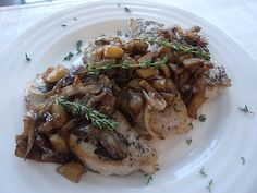 Thyme Rubbed Pork Chops with Apple Shallot Sauce -- recipe by amycaseycooks