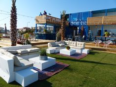 The Gulf Restaurant in Orange Beach, AL.  Made from shipping containers!  Great outdoor space to relax!