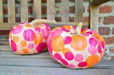 10 Minute Tissue Paper Pumpkins!