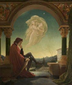 Dante Meditating the Episode of Francesca da Rimini and Paolo Malatesta by Joseph Noel Paton, 1852