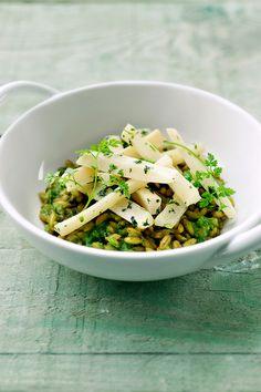 "Het lekkerste recept voor ""Risotto Risotto, Polenta, Gnocchi, Quinoa, Grains, Salads, Vegan Recipes, Couscous, Vegetarian"