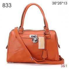 Michael Kors Leather Tote Orange