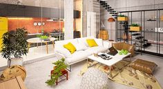 Loft Apartment on Behance